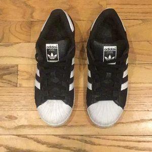 Adidas SuperStar black | white size 6.5 M | W 8.5